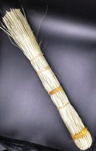 Load image into Gallery viewer, top view of one hand broom made from papyrus reed natural color
