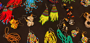 Add a splash of color with these stunning colorful earrings.  Match them with one of our seed bead or paper bead necklaces or bracelets.   Dangling or loop style seed bead earrings in multiple colors