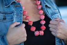 Load image into Gallery viewer, Super Chunky Paper Bead Necklace Various Colors