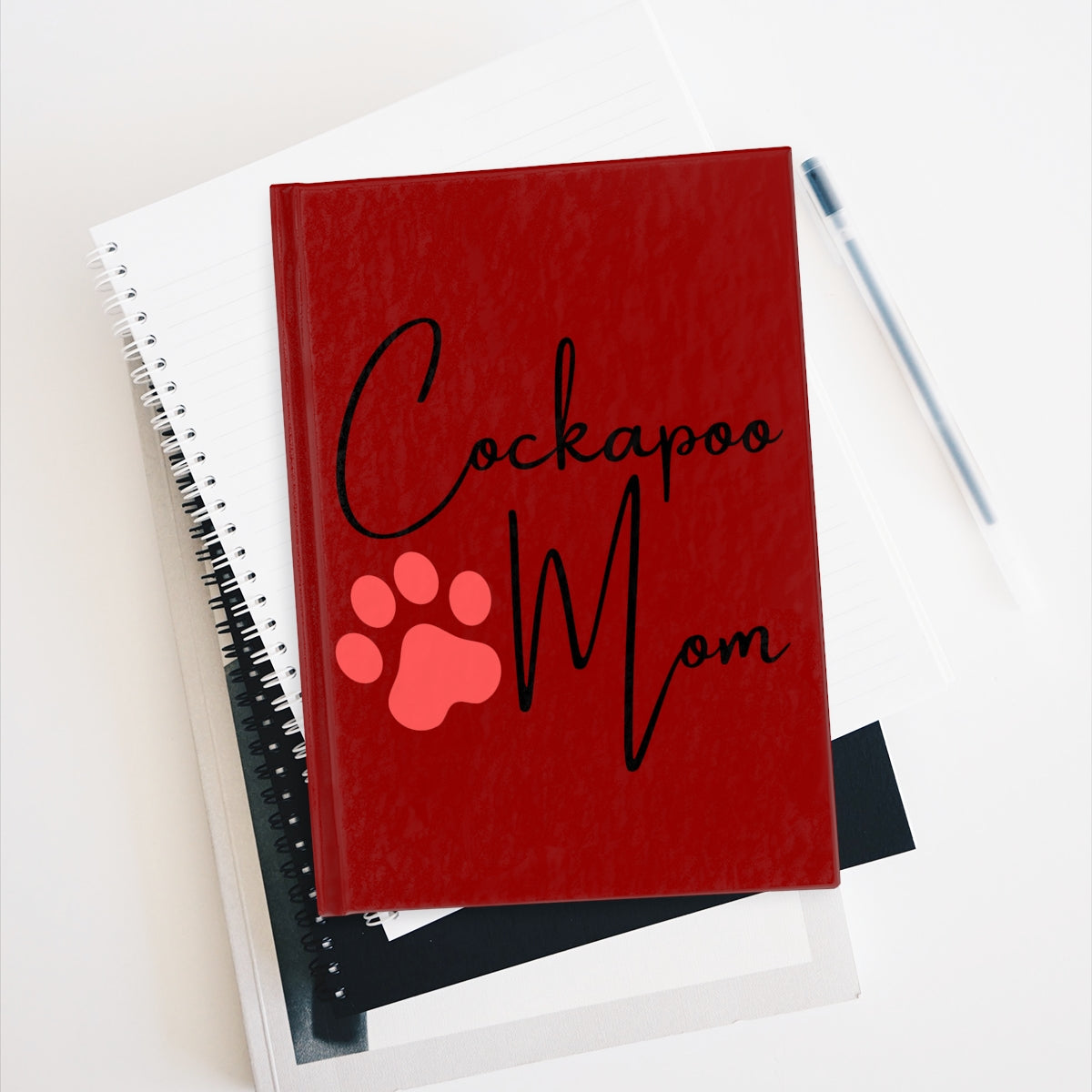 Cockapoo Mom Notebook - Ruled Line