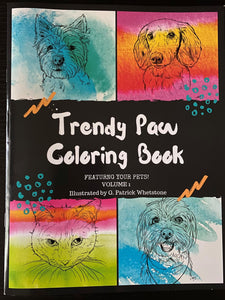Pet Portrait Coloring Book - 1st Edition