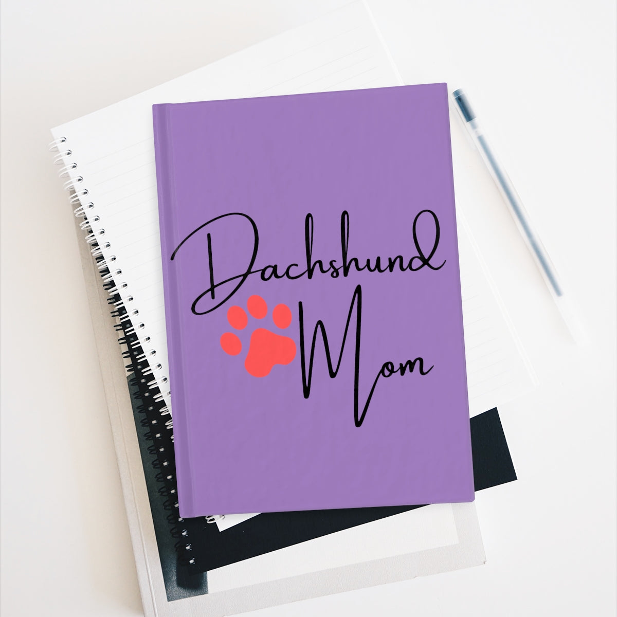 Dachshund Mom Notebook - Ruled Line