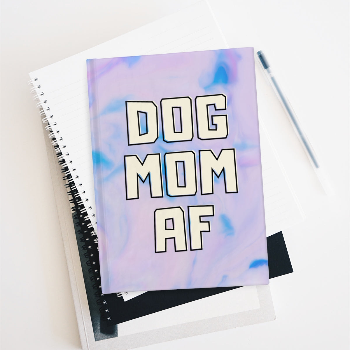Dog Mom AF Notebook - Ruled Line