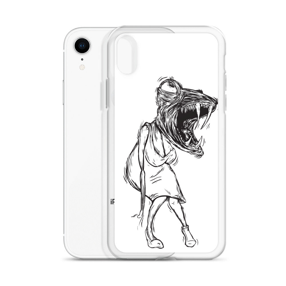 Lady Lizard iPhone Case (white)