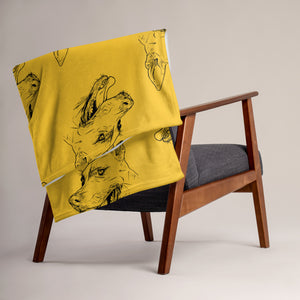 Southern Cur Throw Blanket