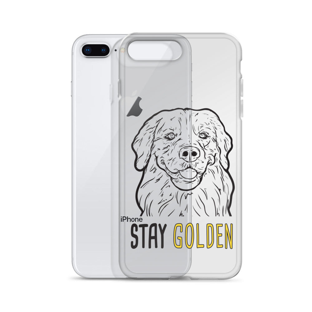Stay Golden iPhone Case (clear)