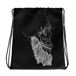 Bearded Skull Drawstring bag