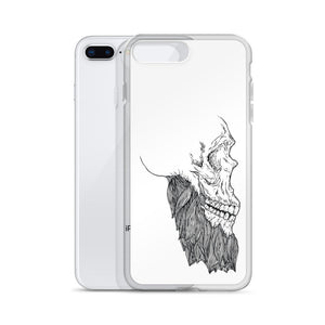 Bearded Skull iPhone Case (black print)