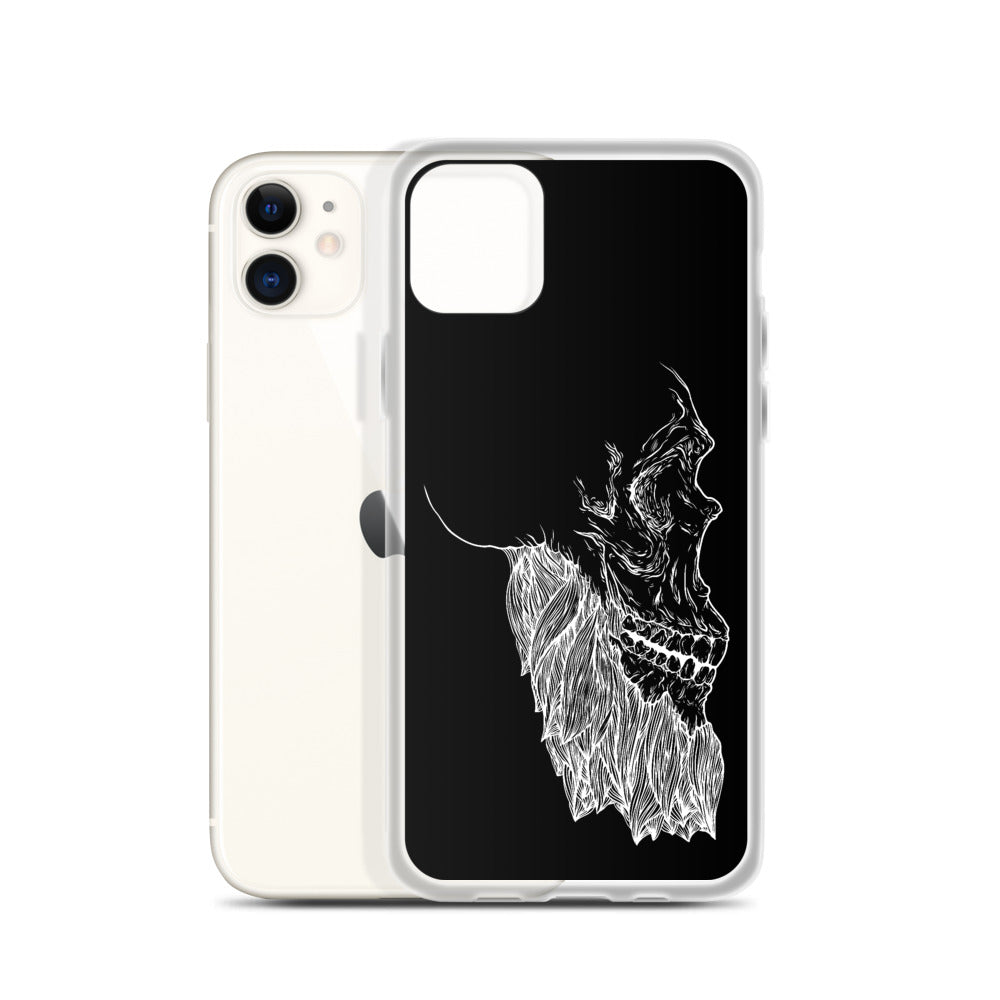 Bearded Skull iPhone Case (white print)