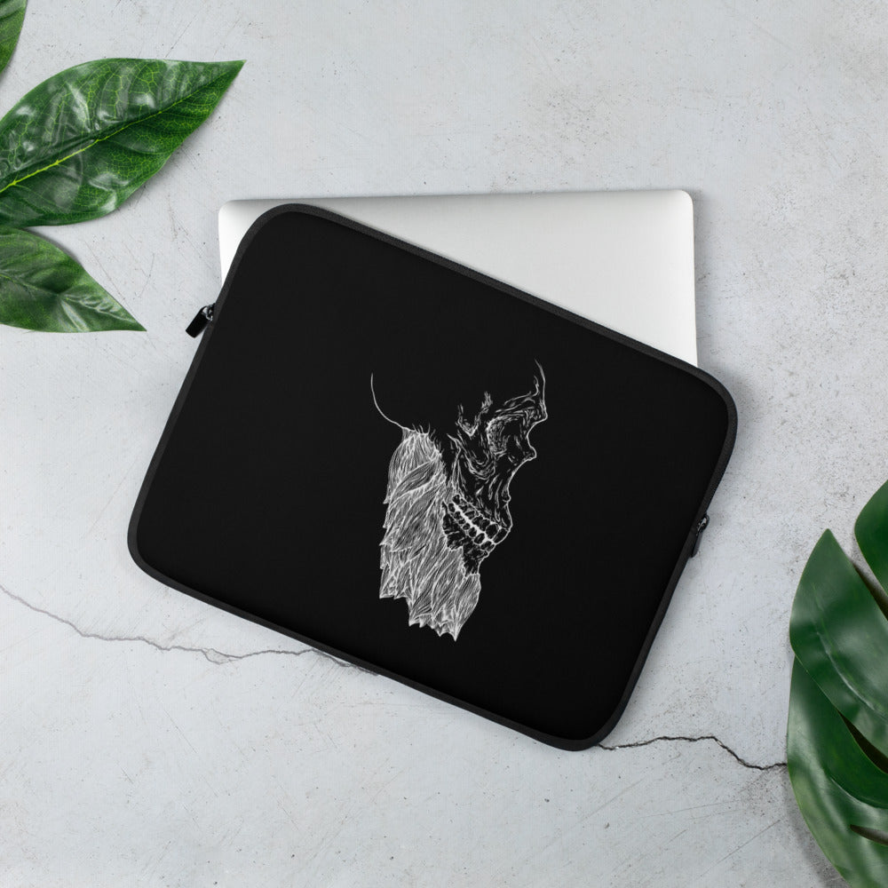 Bearded Skull Laptop Sleeve