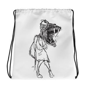 Lady Lizard Drawstring bag