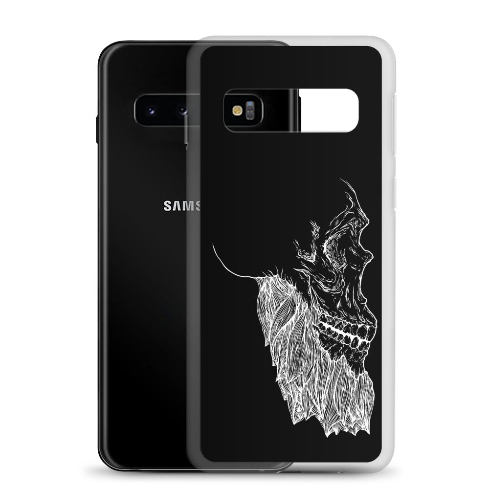 Bearded Skull Samsung Case (white print)