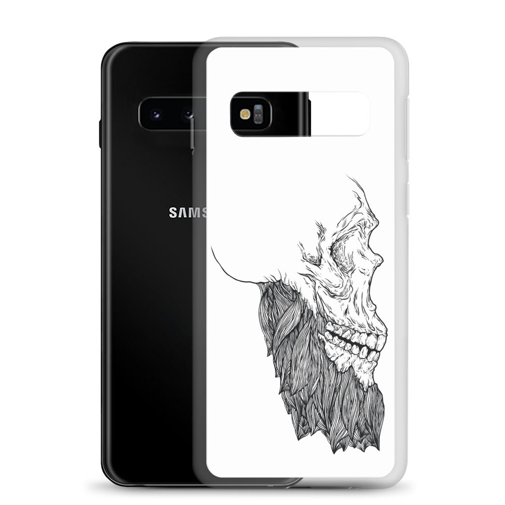 Bearded Skull Samsung Case (black print)