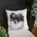 Tink Pillow (black and white)