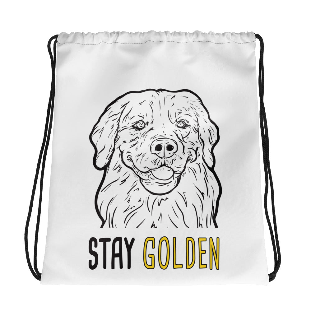 Stay Golden Drawstring bag