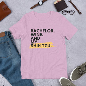 Bachelor.wine.shih tzu T-Shirt