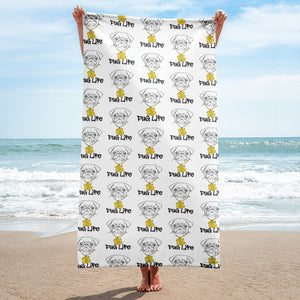 Pug Life Beach Towel