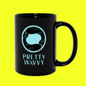 Pretty Wavvy - Logo Black Coffee Mug