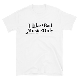 The Pom-Poms - Bad Music T-Shirt (White)