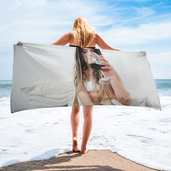 GFOTY White Beach Towel