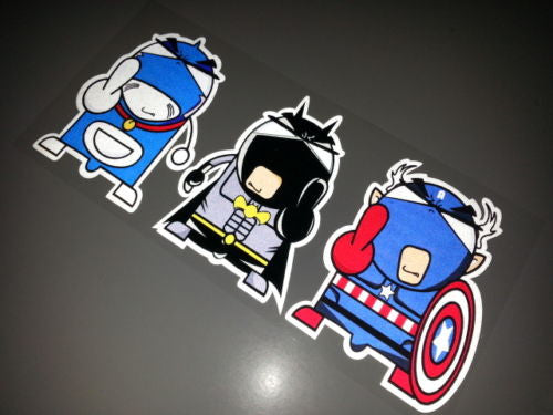 Avengers Batman Crew Gangster JDM Decal Comic Sticker - Reflective