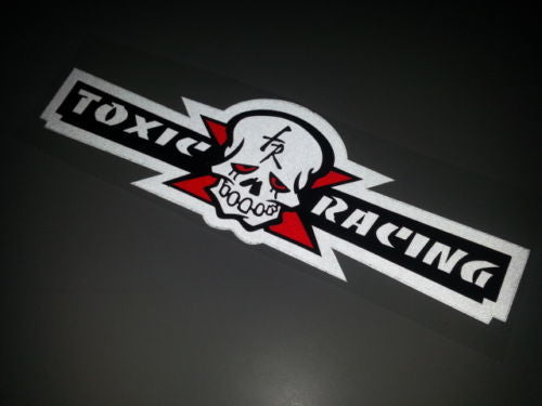 toxic motoracing fr monster truck Racing Dirt Ride Decal Reflective Sticker