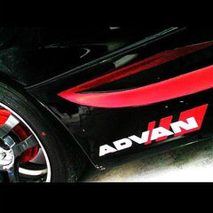 ADVAN wheels JDM Drift Car vinyl Decal Sticker (Black & Red  / White & Red)