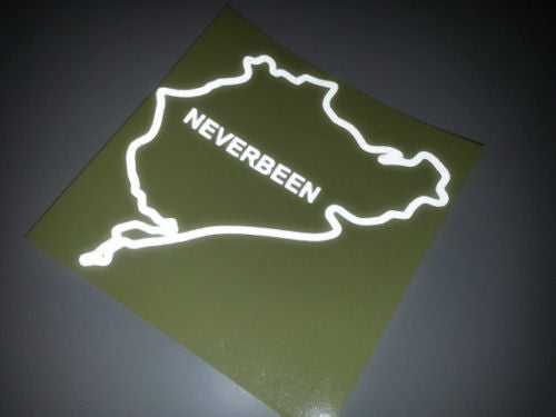 Neverbeen Nurburgring Race track JDM Car Decal Sticker