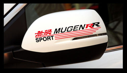 A Pair 無限 MUGEN RR SPORT CIVIC EK EG TYPE R JDM Car Mirror / Window Sticker