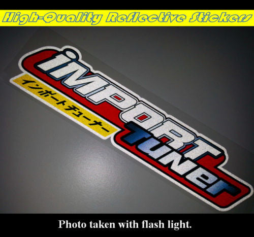 Import Tuner Jdm Modified Car Bumper Decal Reflective Sticker New