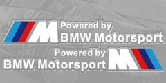 A Pair M Power Powered By BMW Motorsport Car Window 320i M3 M5 X5 Decal Sticker