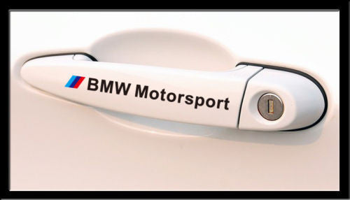 4 Pics BMW Motorsport M Power Car Door Handle 320i M3 M5 M5 X5 Decal Stickers