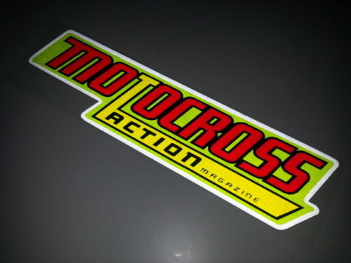 Transworld Motocross Action Motorcycle Dirt Ride Decal Reflective Sticker