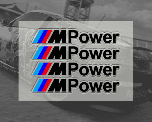 4 Pics BMW M Power Car Door Handle Motorsport320i M3 M5 M5 X5 Decal Stickers