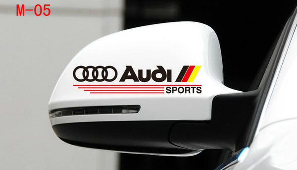 Pair Of Audi Germany Flag S4 A4 A5 A6 R8 RS7 TT Sports mirror Sticker