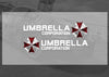 Pair of UMBRELLA CORPORATION BIOHAZARD Resident mirror / Motorcycle tank decal