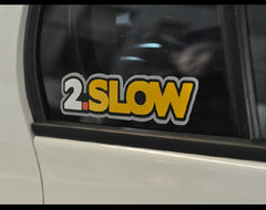 2.SLOW JDM Car Decal Multi-layered Reflective Sticker