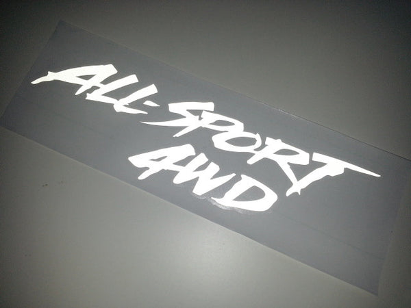 ALL-SPORT 4WD Car Decal Reflective Sticker