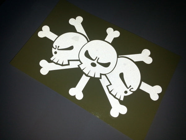One Piece Pirates Skull Flag Decal Reflective Sticker