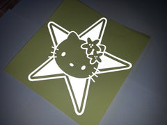 Hello Kitty Star Bow Car Decal Sticker