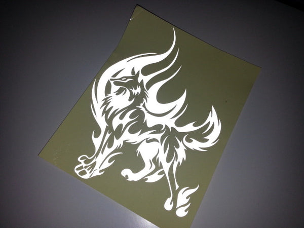 Twilight Fire Wild Wolf Totem Car Decal Reflective Sticker