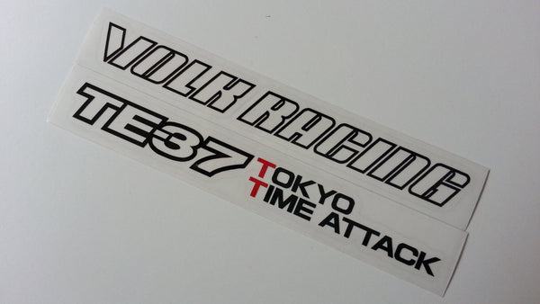 4 X VOLK RACING & TE37 TOKYO TIME ATTACK Rays Wheel Drift Car Decal Sticker