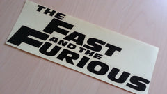 THE FAST AND THE FURIOUS Car Decal Sticker