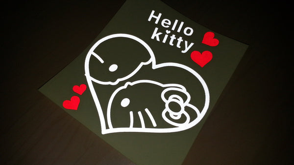 Hello Kitty In Love Car Decal Reflective Sticker