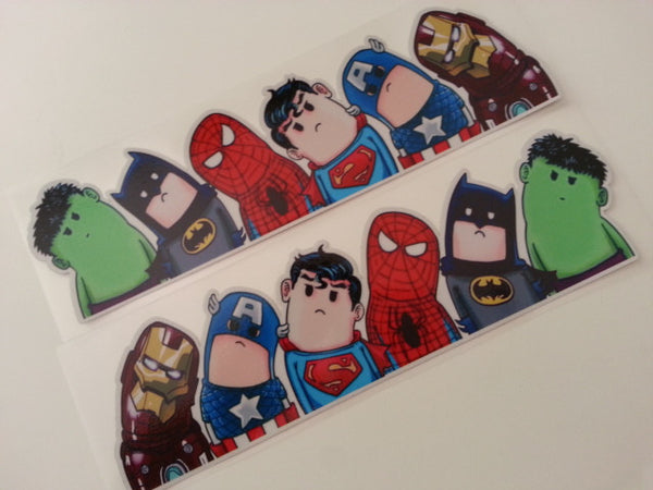 A Pair Of Avengers Wry Neck Style DC Superhero JDM Reflective Sticker