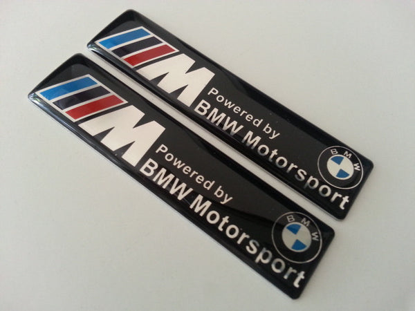 2 Pics BMW M Power Motorsport EMBLEM Badge M3 M5 M6 X5 X6 E39 E60 E61 E65 E66
