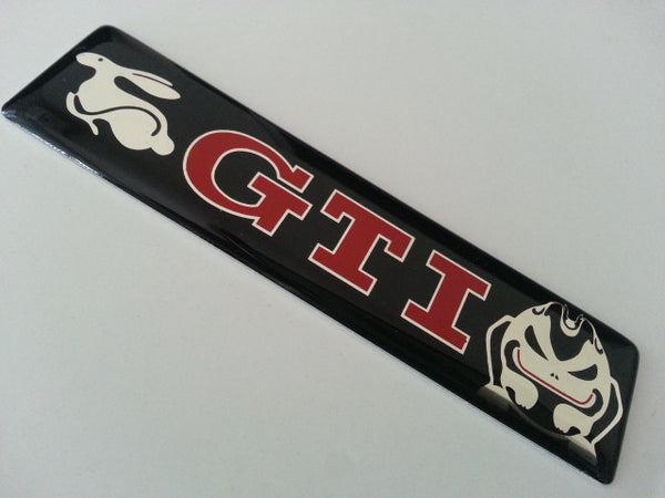 GTI Golf Evil Rabbit Volkswagen VW TDI Turbo Motor Sport 3D Car EMBLEM Badge