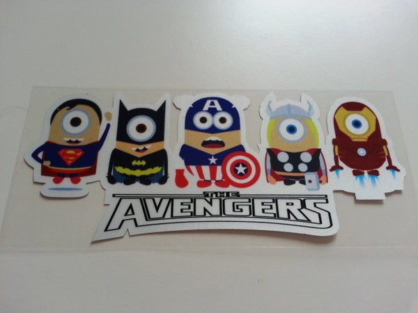 THE AVENGERS Superheros Minion Version JDM Reflective Decal Sticker