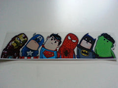 THE AVENGERS Marvel Superheros Wry (Right) neck Version Reflective Decal Sticker