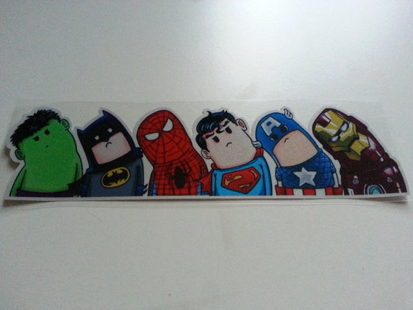 THE AVENGERS Marvel Superheros Wry (Left) neck Version Reflective Decal Sticker